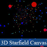 JavaScript 3D Starfield avec HTML5 Canvas
