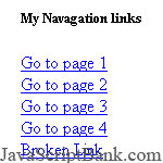 Menu de navigation AJAX