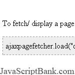 Net AJAX Page Fetcher