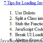 7 simple tips to load JavaScript faster in rich Web 2.0 sites