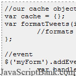 Cache and AJAX Results and Javascript