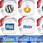 Christmas Social Media icons: Bests of