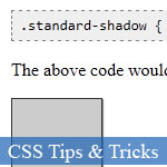 CSS3 box-shadow rudiments de la propriété