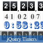 Gratuit jQuery impressionnant Count Down/Up Scripts minuterie