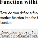 Function within a function in JavaScript