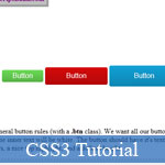 HTML Button with CSS3: Tiny & Helpful Demo plus Tutorial