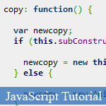 JavaScript Object Copy Method