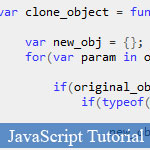 JavaScript Objects: Compare and Clone