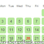 jsDatePick - A Simple Free Javascript Date Picker