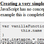 JavaScript Object Oriented Techniques