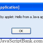 Running JavaScript from a Java Applet