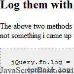 Simple Ways to debug your jQuery/JavaScript codes © JavaScriptBank.com