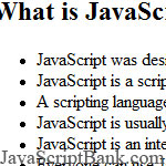 Some Ideas about JavaScript