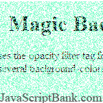 Magic Background Color