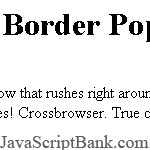 Flying Border Popup