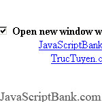 Open links in new window Script
