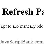 Refresh Page - Automatic