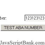 ABA Routing Number Checksum