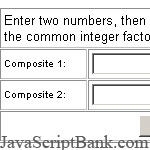 Common Factors Calculator
