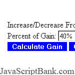Gain in Percent Calculator