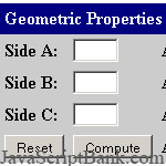 Geometric Properties of a Triangle