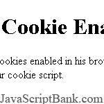 Cookie Enabled script