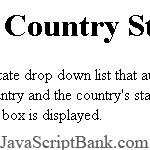 Country State Drop Down