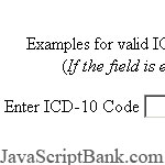 ICD-10 Code Format Validation