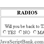 Radio Question Validator