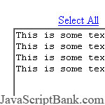 'Select-all' form element © JavaScriptBank.com