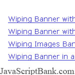 Rotating Banners with Wipe Effects