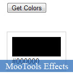 Colours-on-Page Displaying with MooTools
