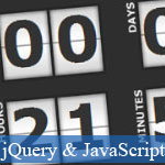 Cool JavaScript Digital Countdown with jQuery