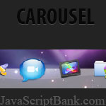 Carousel JavaScript Mootools Dock DHTML à l\'aide