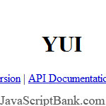 YUI - Yahoo! User Interface Library