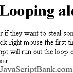 Looping alerts on right click