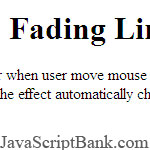 Fading Link onMouseover