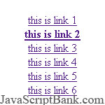 Black Bold Hyperlinks