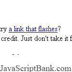 Flashing links