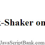 Textlink-Shaker onMouseOver