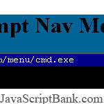 Command Prompt Nav Menu