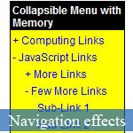 JavaScript Multi-level Navigation Menu with States-Remember