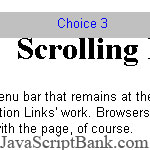Scrolling Menu Bar