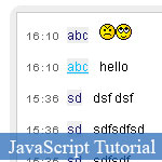 Simple JavaScript Chat Box with OOP Skill