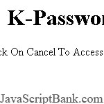 K-Password Entry
