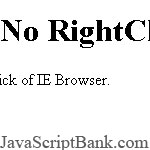 No RightClick IE Menu © JavaScriptBank.com