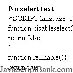 Select Text Content Prevetion © JavaScriptBank.com