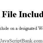 File Include script