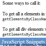 getElementsByClassName: Simple Shorthand Way to Get HTML Element by className with RegExp