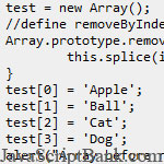 Remove an Element in JavaScript Array